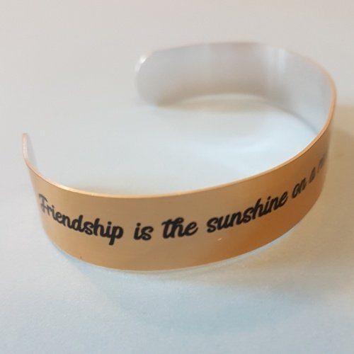 Friendship is the sunshine Quote Bracelet Mantra Band Bangle