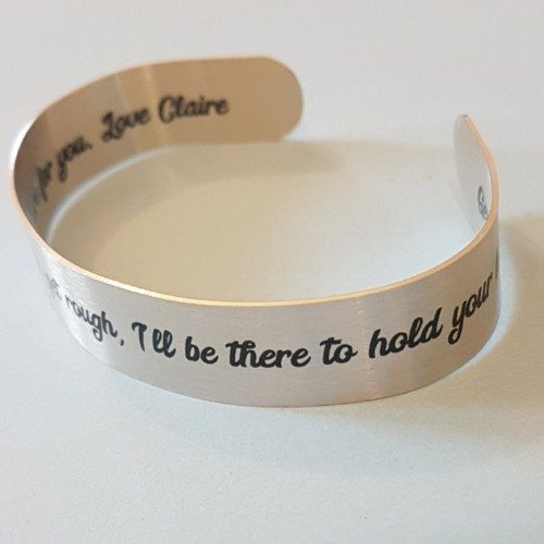 Friendship I'll be there to hold your hand Quote Bracelet Mantra Band Bangle