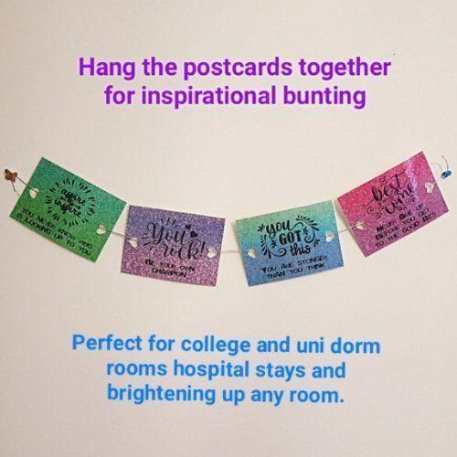 Inspirational, uplifting, positive postcards supporting mental health Kind Shop 3