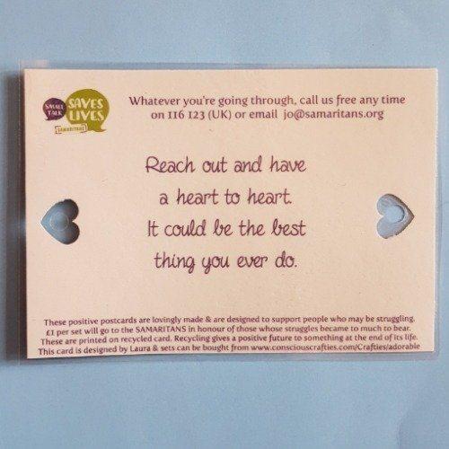 Inspirational, uplifting, positive postcards supporting mental health Kind Shop 4