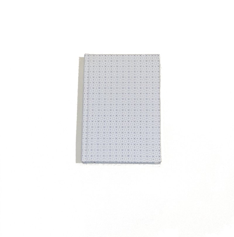 A5 Blank Notebook Covered With White Squares Fabric – Zero Waste Kind Shop