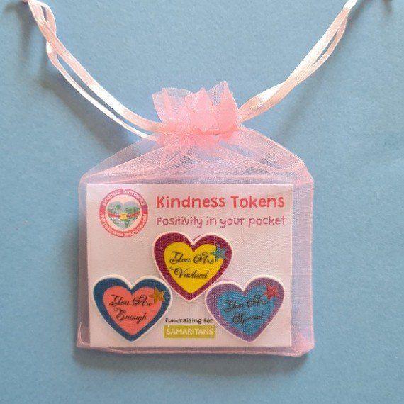 Kindness tokens. Fundraising for Samaritans. Kindness Community Kind Shop