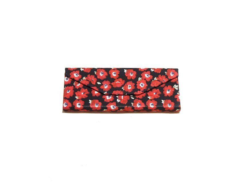 Red flowers zero waste glasses case Kind Shop 6