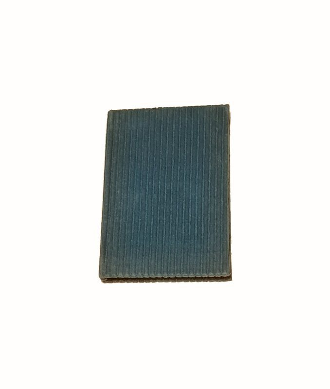A5 Blank Notebook Covered With Turquoise Corduroy Fabric – Zero Waste Kind Shop