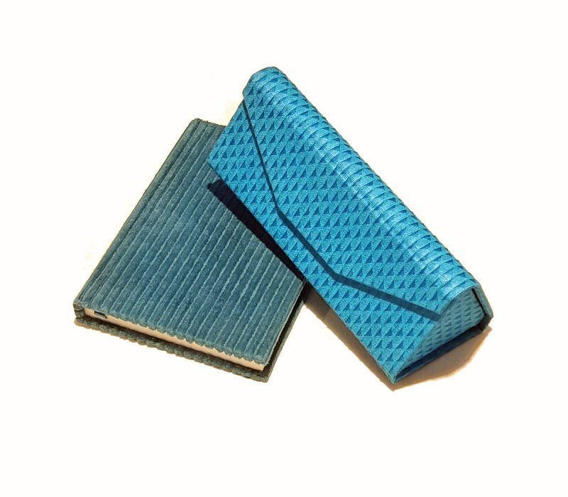 A5 Blank Notebook Covered With Turquoise Corduroy Fabric – Zero Waste Kind Shop 2