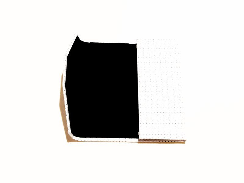 White squares foldable glasses case Kind Shop 3