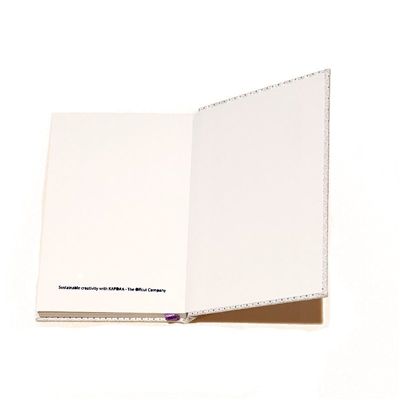 A5 Blank Notebook Covered With White Squares Fabric – Zero Waste Kind Shop 3