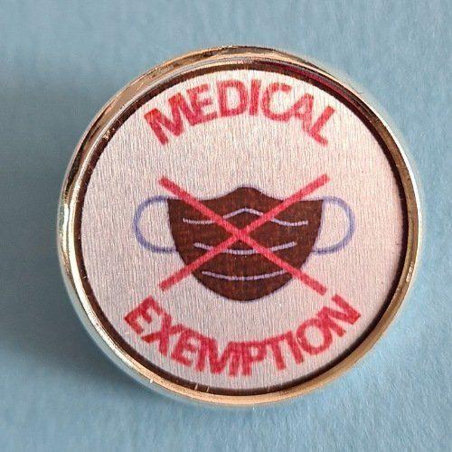 Badge mask exemption, special needs medical exemption pin badges Kind Shop