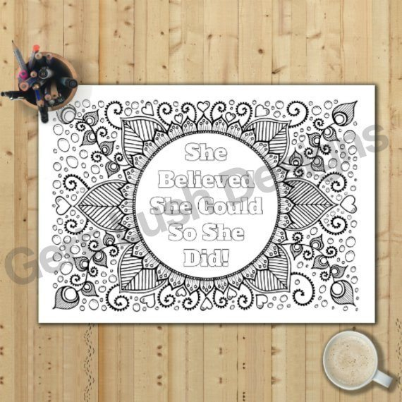 Positive Mindful Colouring Sheets With Motivational Quotes – Saver Set Of Four A4 Sized Kind Shop 2