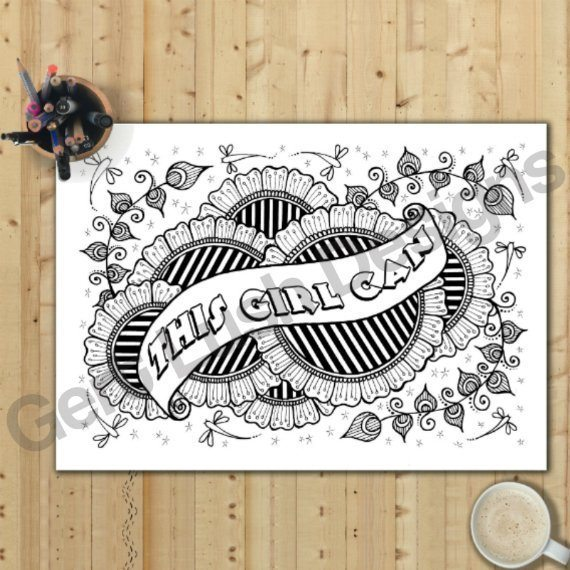 Positive Mindful Colouring Sheets With Motivational Quotes – Saver Set Of Four A4 Sized Kind Shop 3