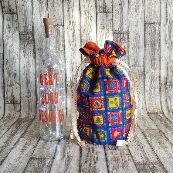 Bright Funky Christmas Print Eco-Friendly Fully Lined Reusable Christmas Gift Bag Kind Shop 2