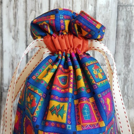 Bright Funky Christmas Print Eco-Friendly Fully Lined Reusable Christmas Gift Bag Kind Shop 3