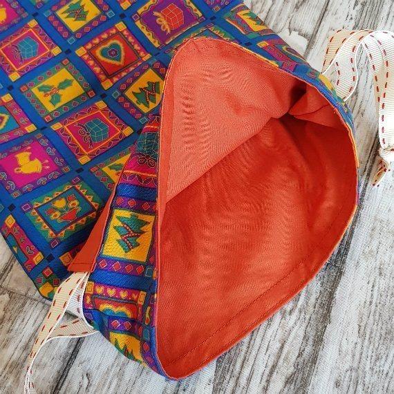 Bright Funky Christmas Print Eco-Friendly Fully Lined Reusable Christmas Gift Bag Kind Shop 8