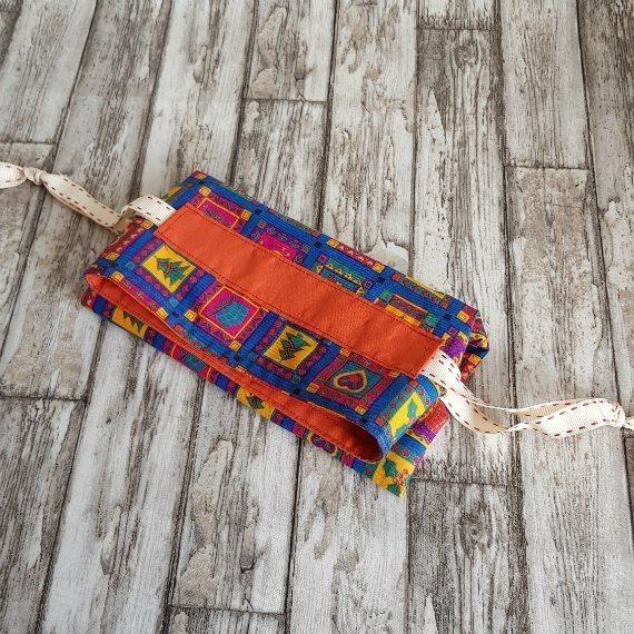 Bright Funky Christmas Print Eco-Friendly Fully Lined Reusable Christmas Gift Bag Kind Shop 9