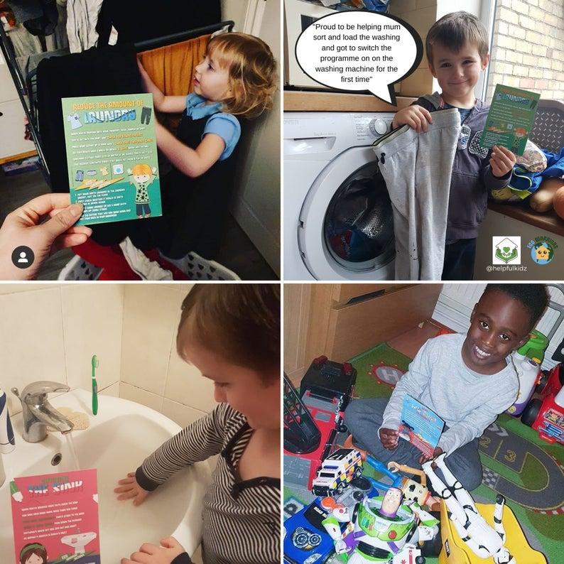 Children doing chores eco warrior game