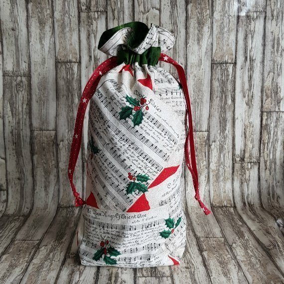 Christmas Carol Eco-Friendly Fully Lined Reusable Christmas Gift Bag Kind Shop