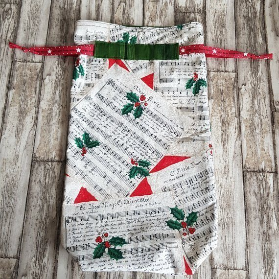 Christmas Carol Eco-Friendly Fully Lined Reusable Christmas Gift Bag Kind Shop 4