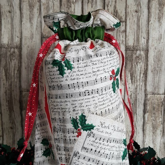Christmas Carol Eco-Friendly Fully Lined Reusable Christmas Gift Bag Kind Shop 3