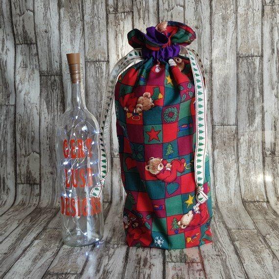 Christmas Teddy Bears Eco-Friendly Fully Lined Reusable Christmas Gift Bag Kind Shop 2