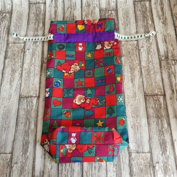 Christmas Teddy Bears Eco-Friendly Fully Lined Reusable Christmas Gift Bag Kind Shop 5