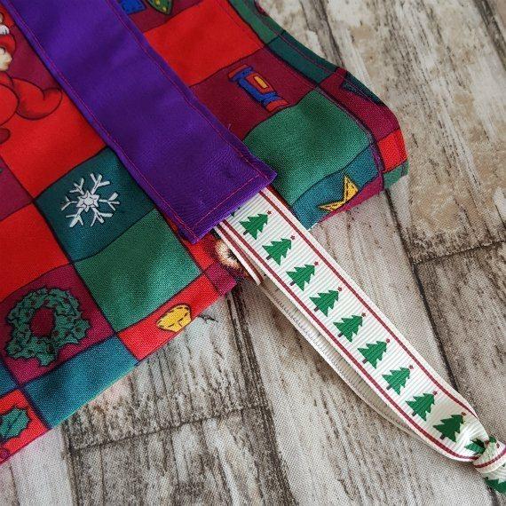 Christmas Teddy Bears Eco-Friendly Fully Lined Reusable Christmas Gift Bag Kind Shop 6