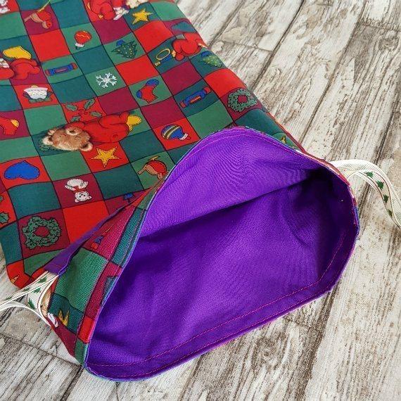 Christmas Teddy Bears Eco-Friendly Fully Lined Reusable Christmas Gift Bag Kind Shop 7