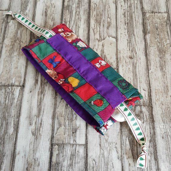 Christmas Teddy Bears Eco-Friendly Fully Lined Reusable Christmas Gift Bag Kind Shop 8