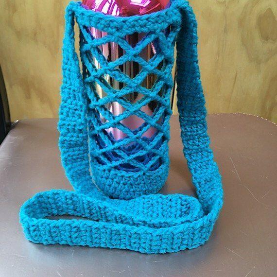 Eco friendly/vegan crochet water bottle holder Kind Shop