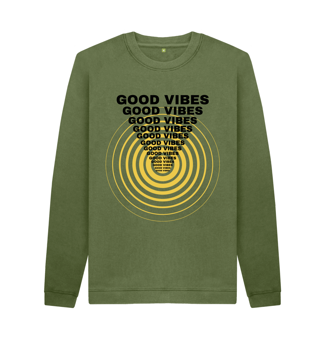 Gifts for Men Mens Good Vibes Top Jumper Sweater