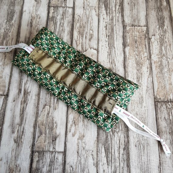 Little Holly Leaf Eco-Friendly Fully Lined Reusable Christmas Gift Bag Kind Shop 9