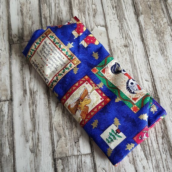 Small Christmas Themed Eco-Friendly Fully Lined Reusable Christmas Gift Bag Kind Shop 7