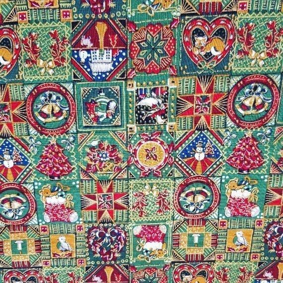 Traditional Christmas Print Eco-Friendly Fully Lined Reusable Christmas Gift Bag Kind Shop 6