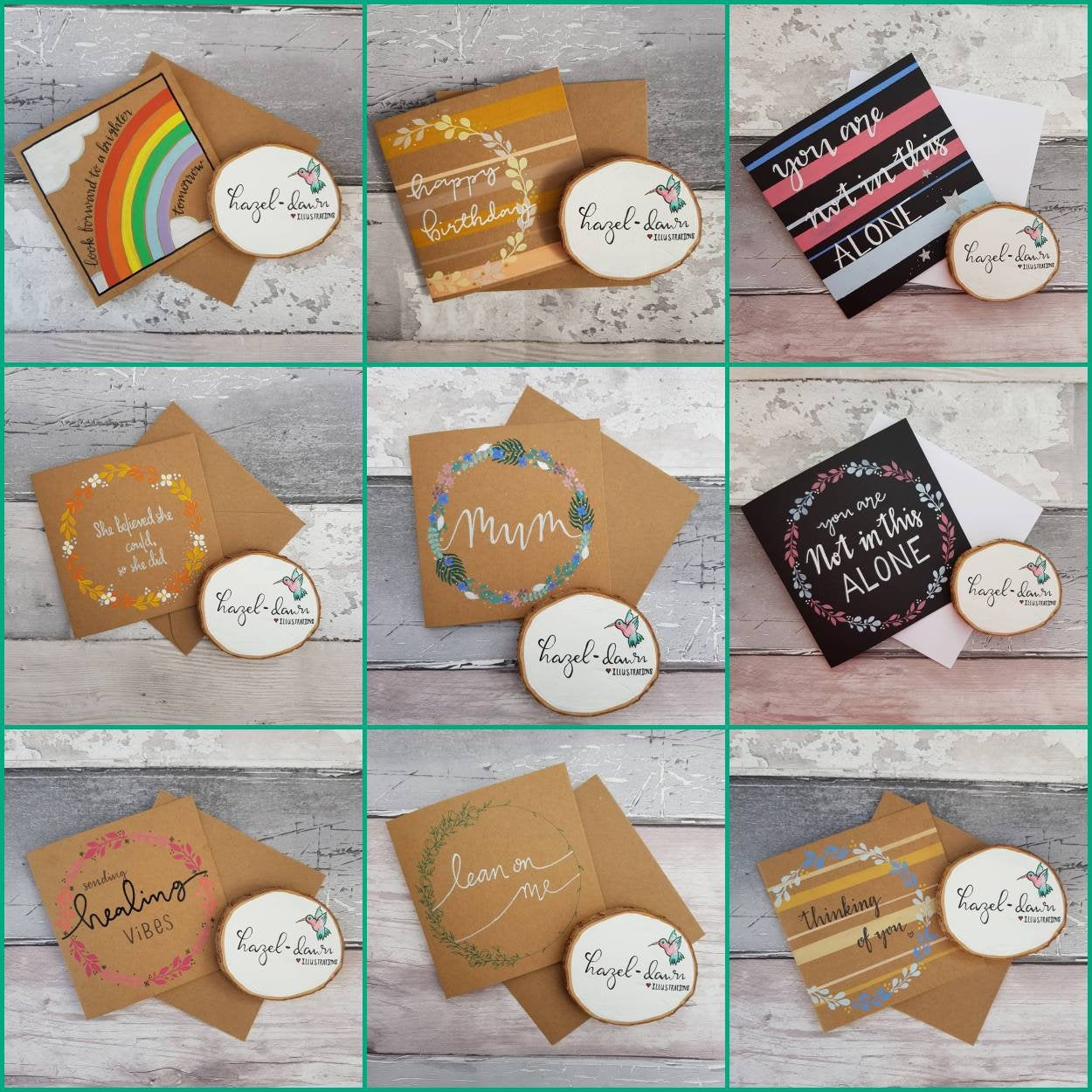 Sending Healing Vibes Card, Blank Card, Friendship, Motivation, Support – Handmade Kind Shop 4