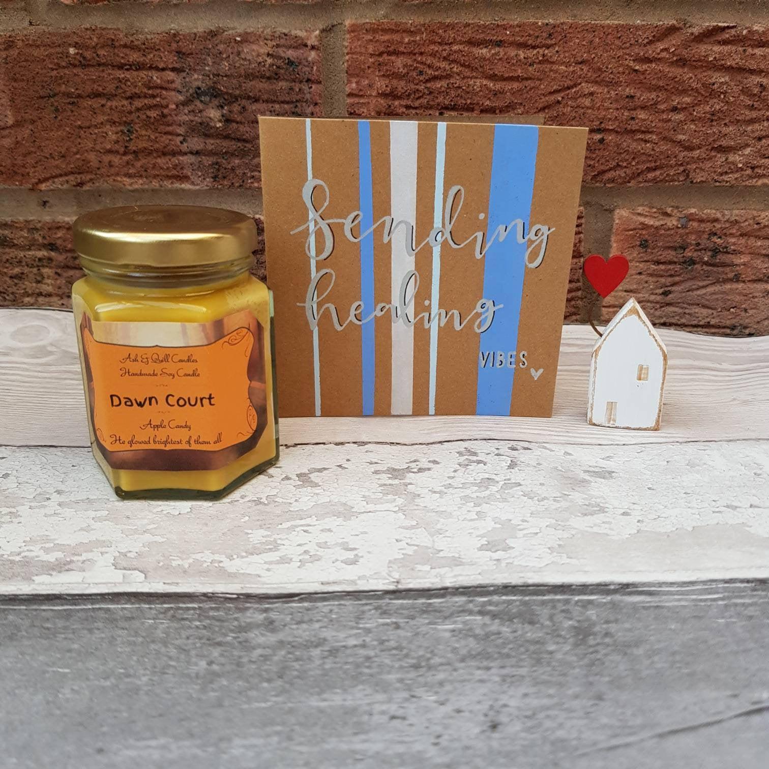 Sending Healing Vibes Card, Blank Card, Friendship, Motivation, Support – Handmade Kind Shop 3