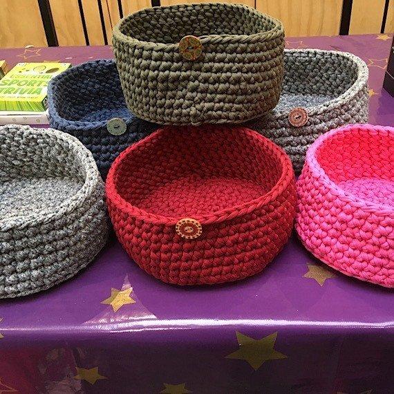 Eco friendly crochet storage basket Kind Shop 2