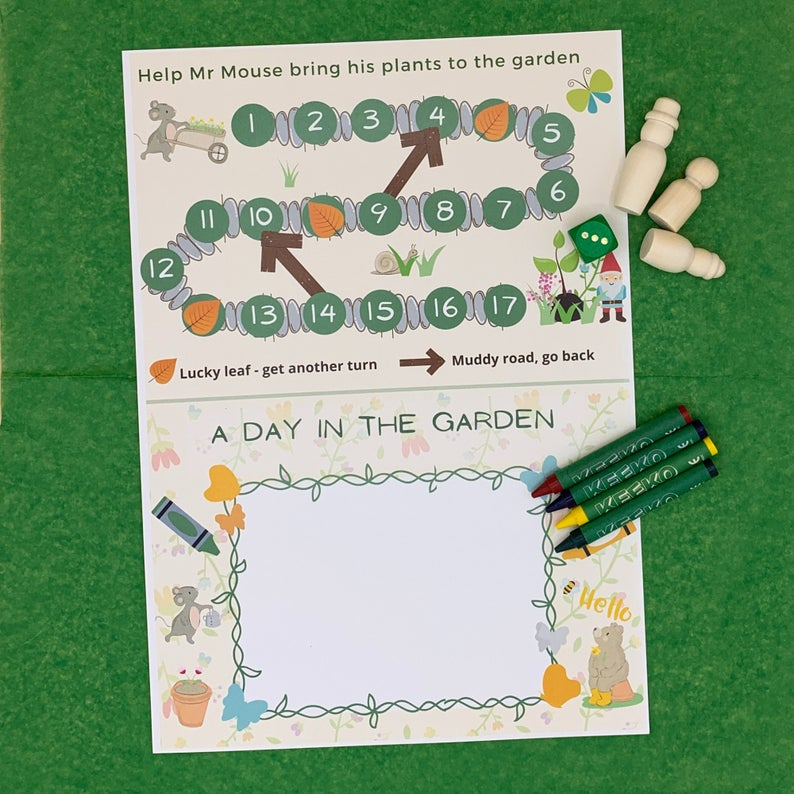 Activity Pack for Kids, Gardening Plant Hunt Game