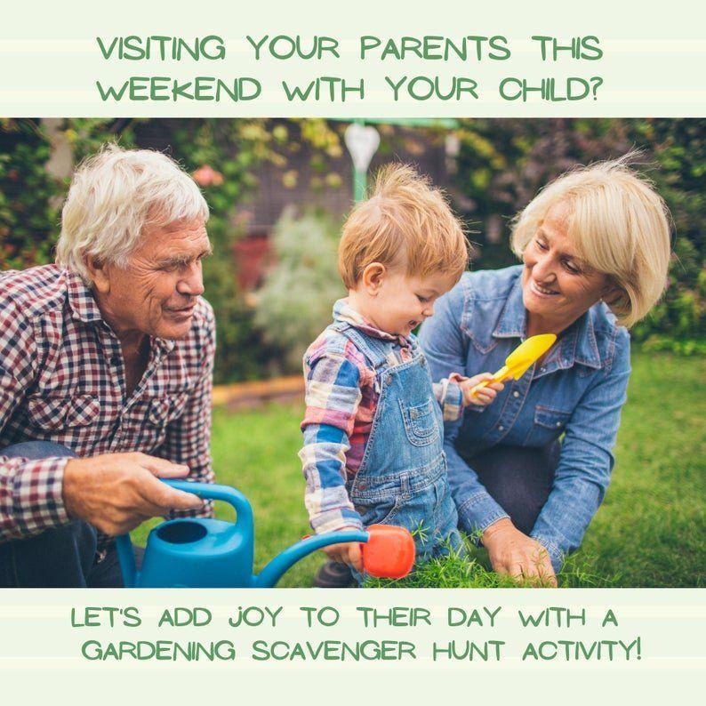 Activity Pack for Kids, Gardening Scavenger Hunt