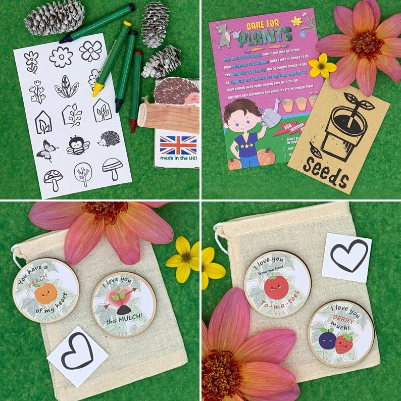 Activity Pack for Kids, Gardening Token Game