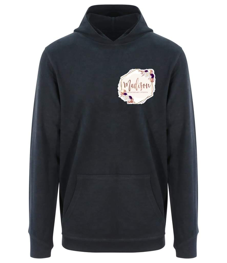 Business Logo Branded Hoodie - Organic Cotton, Vegan