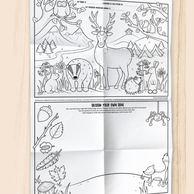 Child nature colouring in sheet