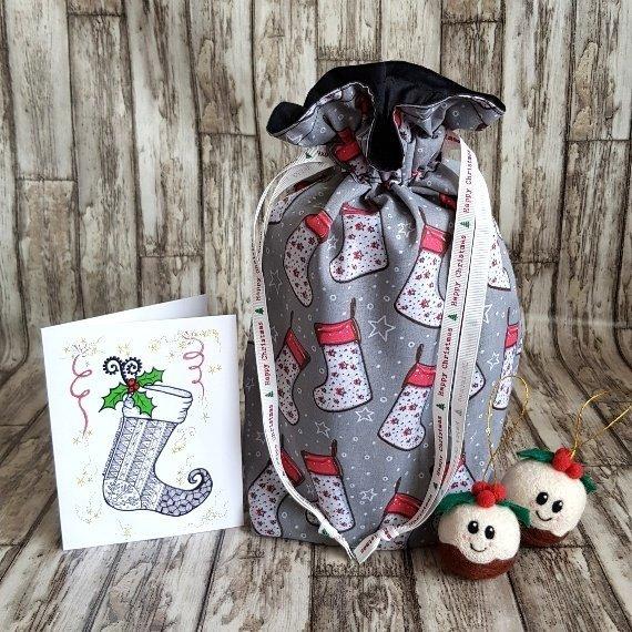Reusable Christmas Gift Bag Wrap
