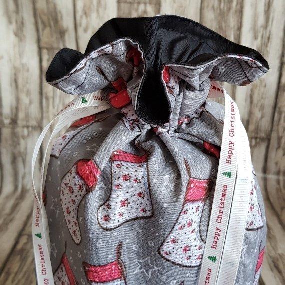 Christmas Stockings Print Eco Friendly Fully Lined Reusable Christmas Gift Bag Kind Shop 4