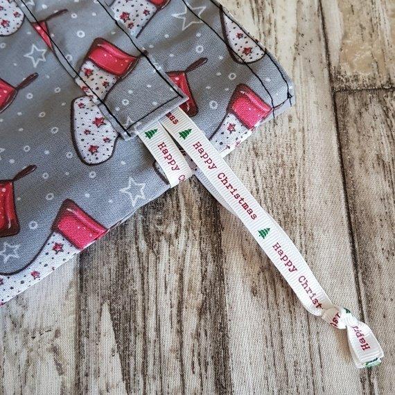 Christmas Stockings Print Eco Friendly Fully Lined Reusable Christmas Gift Bag Kind Shop 7