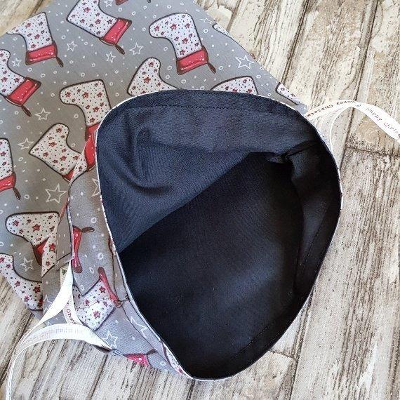 Christmas Stockings Print Eco Friendly Fully Lined Reusable Christmas Gift Bag Kind Shop 8