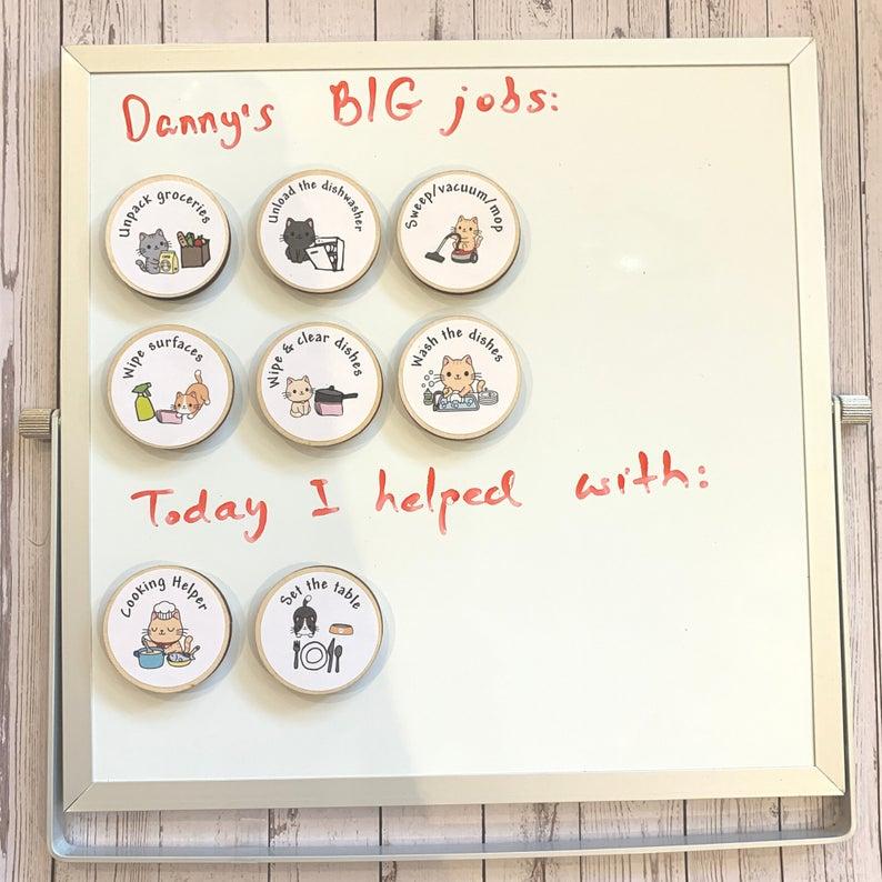 Eco Friendly Child Tidy Kitchen Chore Tokens Reward Chart