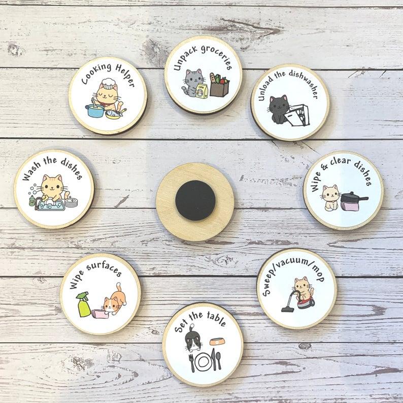 Eco Friendly Child Tidy Kitchen Chore Tokens Reward