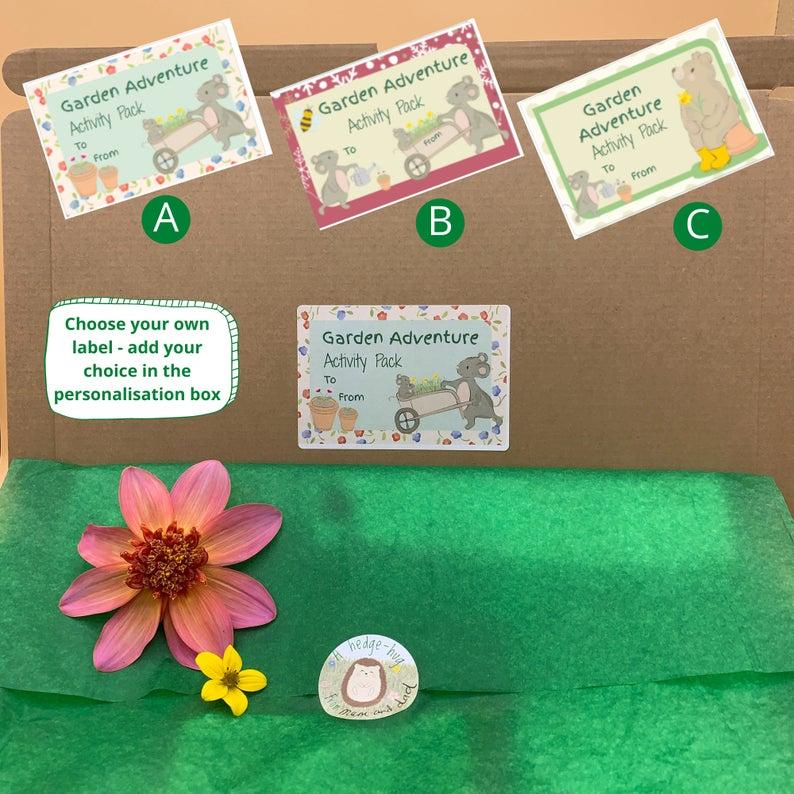Garden adventure activity labels