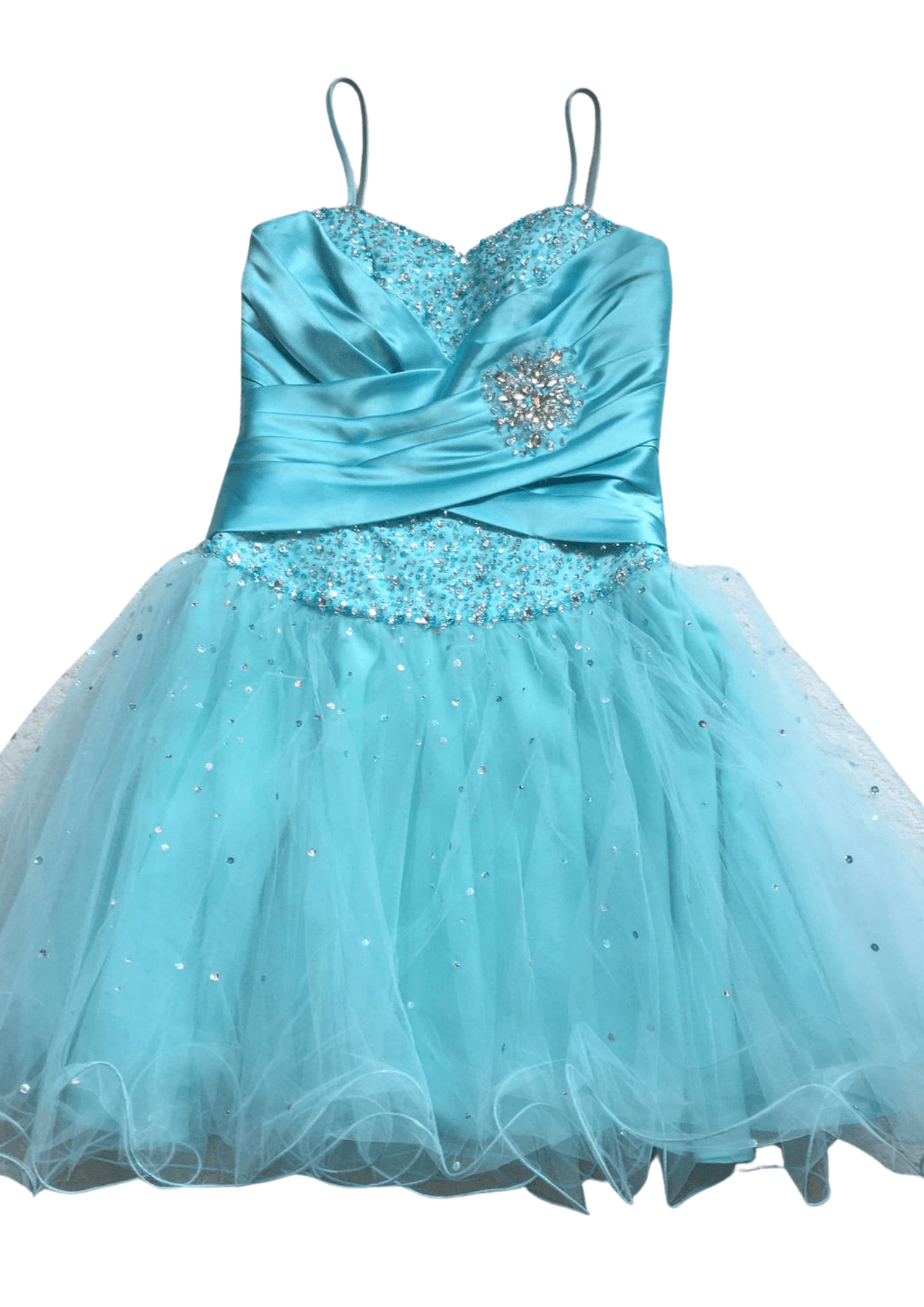 Pre-Loved Mori Lee Party Dress Aqua – UK 8 Kind Shop