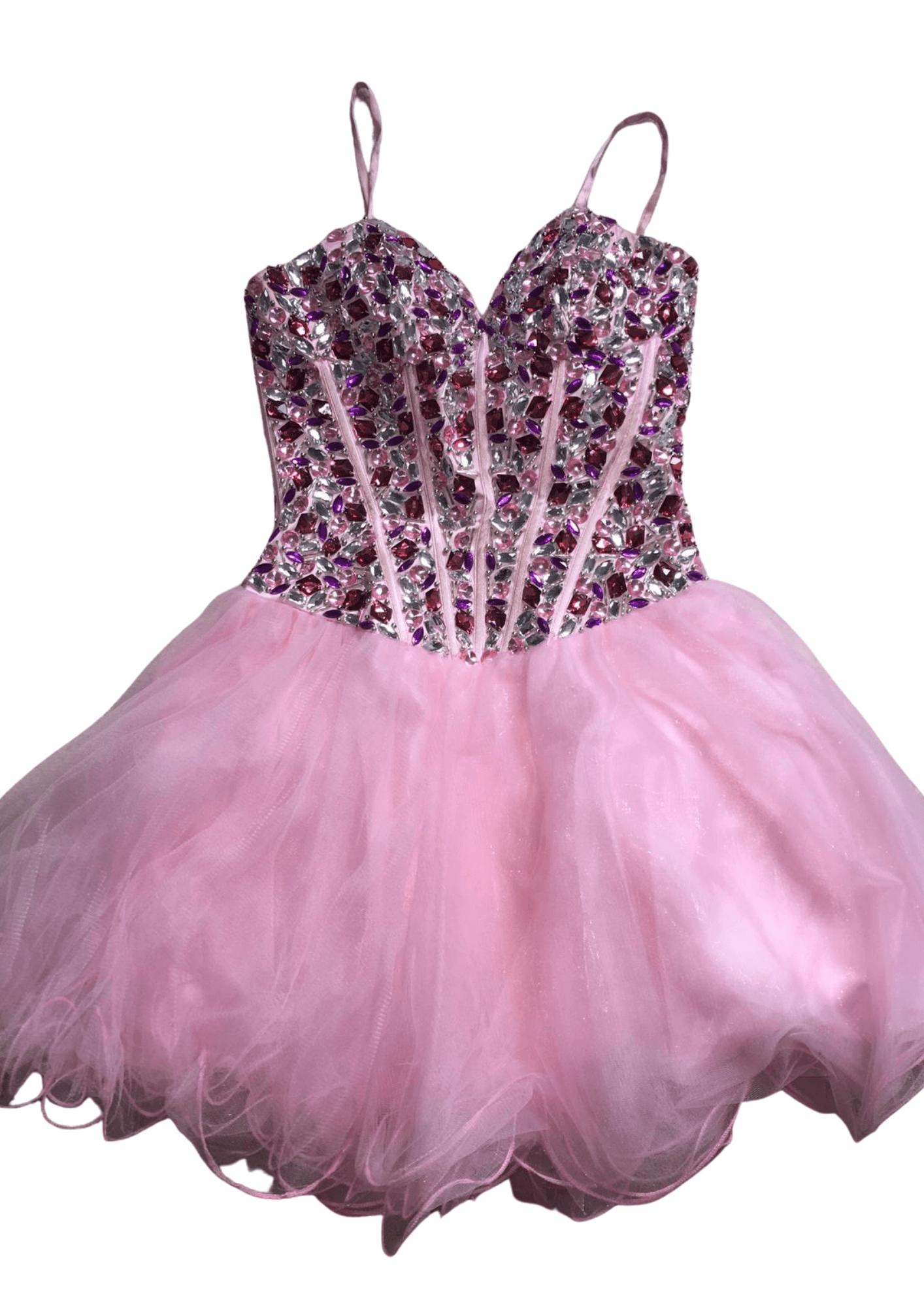 Pre-Loved Pink Alyce Paris Party Dress – UK 0 Kind Shop