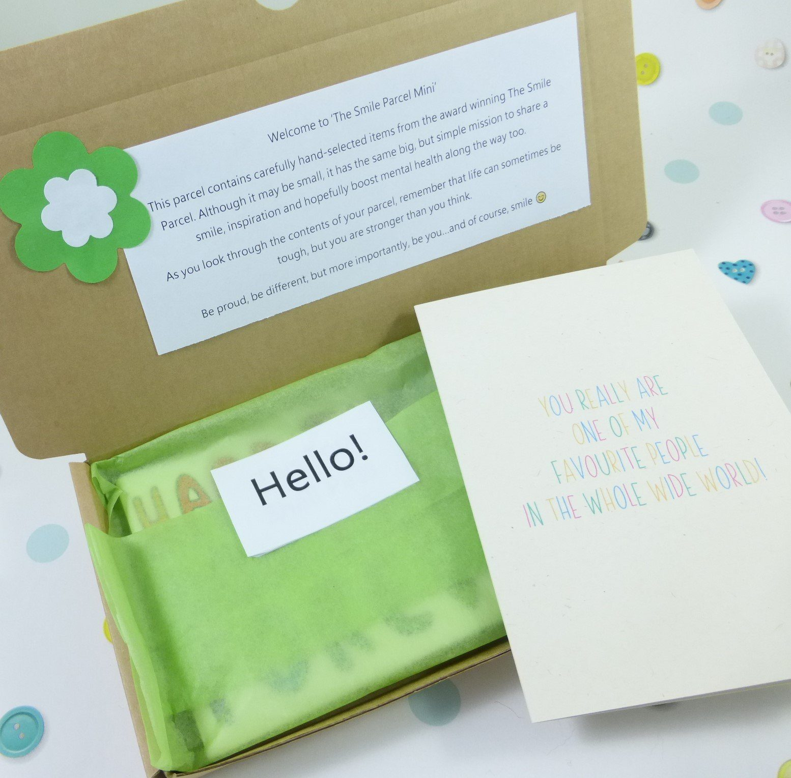 Best Friend Gift, Letterbox Friendly, Pick Me Up Gift, The Smile Parcel Mini, Self Care Box, Mental Health Gift, Just Because Kind Shop